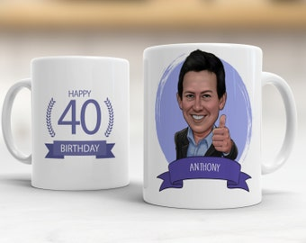 Personalized 40th birthday gift ideas, 40th Birthday Mug, Funny 40th Birthday Gift, 40th birthday gifts for men, 40th birthday gifts women
