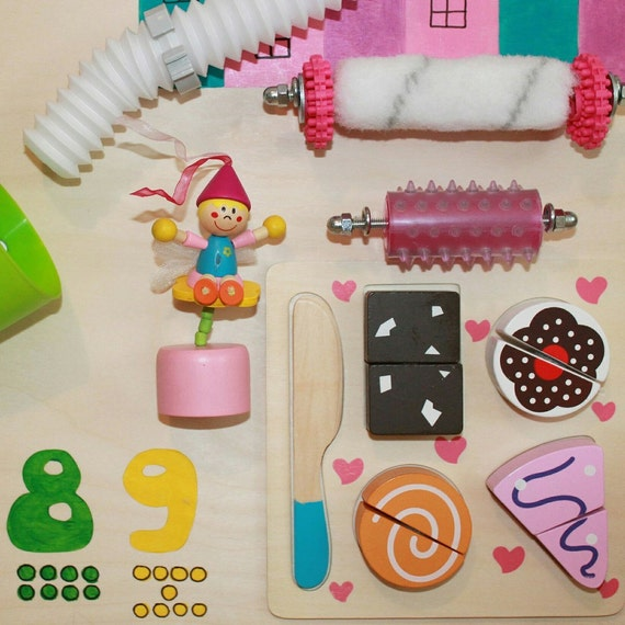 Busy Board Baby girl Activity Board Sensory by ...