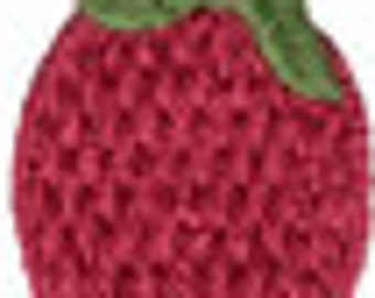 """1 1/2"""" by 1 1/8"""" Red Berry Applique"""