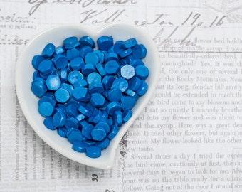 Metallic Blue Sealing Wax Beads
