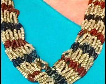 Tibet Trade Bead Necklace, Naga, Beautiful and Unusual , Authentic rare, 20""
