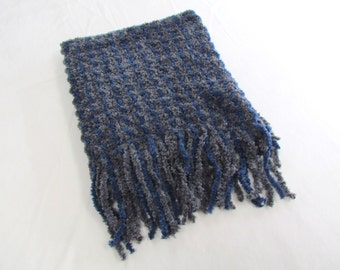 Chenille Scarf NAVY/Charchol