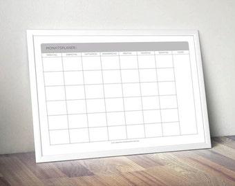 Wall calendar DIN A3 - monthly calendar