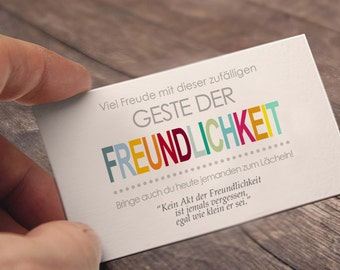 Random acts of kindness pressure file of cards on german =