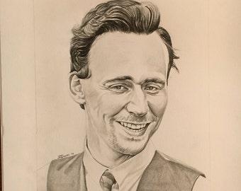 Tom Hiddleston ORIGINAL portrait