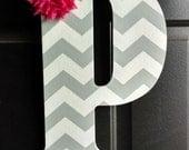 Chevron Monogram Letter.Monogram Letter.Front Door Monogram Letter.Front Door Letter.Housewarming Gift.Wood Letter.Initial.Door Hanger
