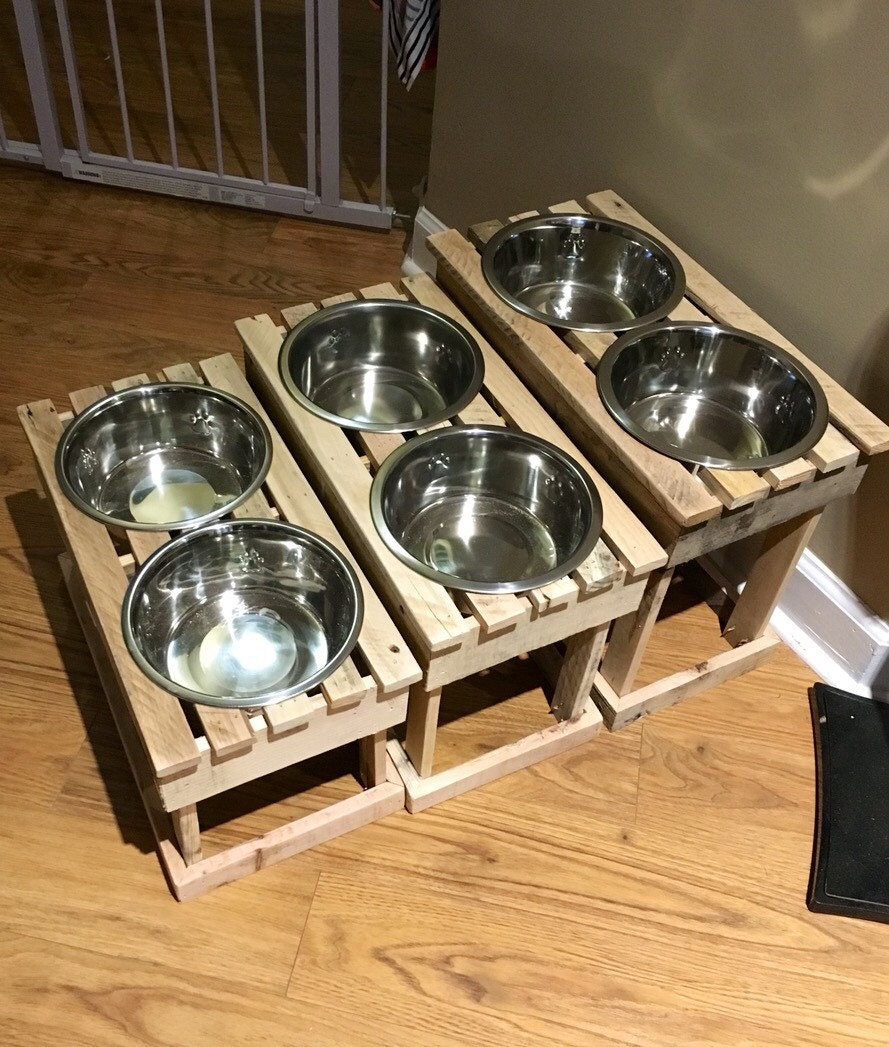Elevated Dog Bowl Stand Pet Feeder Raised Dish Stand