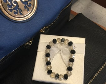 Clear and black with accenting beads