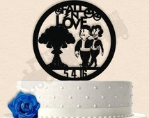 Fallout inspired Wedding Cake Topper 2 Styles to Choose from.