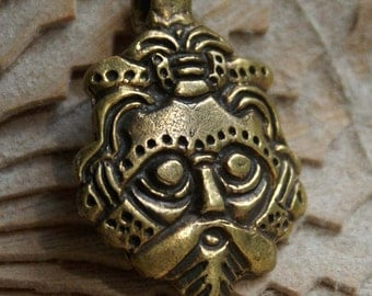 Viking pendant Loki Mask.Jewelry Viking. Amulet Gnezdovo 10th century.