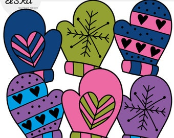 Mittens clipart | Etsy