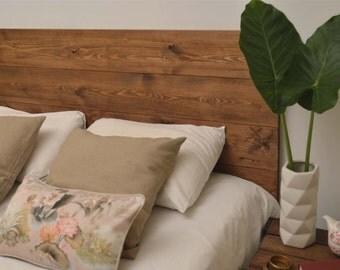 Headboard Bed wood handmade Walnut