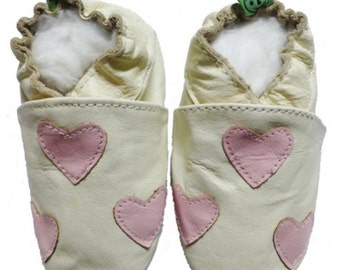 Soft Leather Baby Shoes 0-6 6-12 12-18 Months Hearts