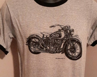 Vintage Indian Scout Motorcycle Tee