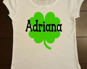 St. Patrick's Day Shirt Customized With Name