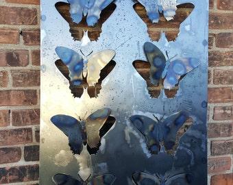 Metal Outdoor Butterfly Garden Art Decor