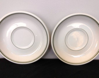 Set of 2 Homer Laughlin Restaurant ware Saucers