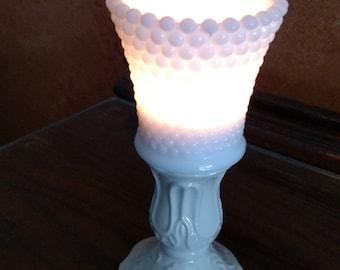 Vintage White Sconce-Votive Candle Holder ~ Honeycomb design