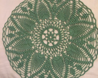 Crocheted Doily Green