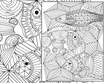 Nautical Adult Coloring Page Ocean Sheet Colouring Book