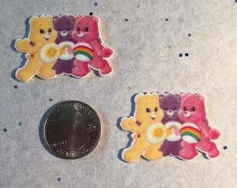 Care Bear Embellishment - Care Bear Cabochon -Care Bear Planar Resin