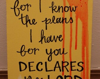 Jeremiah 29:11 Canvas Wall Art