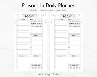 A5 Daily planner printable: TODAY'S PLAN Daily