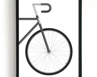 Road Bike Art   Bicycle Art   Bike Poster   Gift for Cyclist   Modern Art Print   Minimalist Art   Man Cave Wall Art   Man Cave Decor