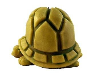 Beeswax Turtle Candles Beeswax Turtles Painted Turtles BoxTurtles Green Turtle Candle Giant Candle Large Candle Tortoise Decorative Lime