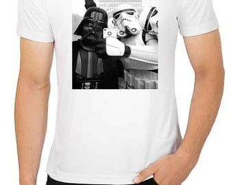 Adult New Star Wars Selfie Funny Darth Vader Parody T shirt All Colour and size