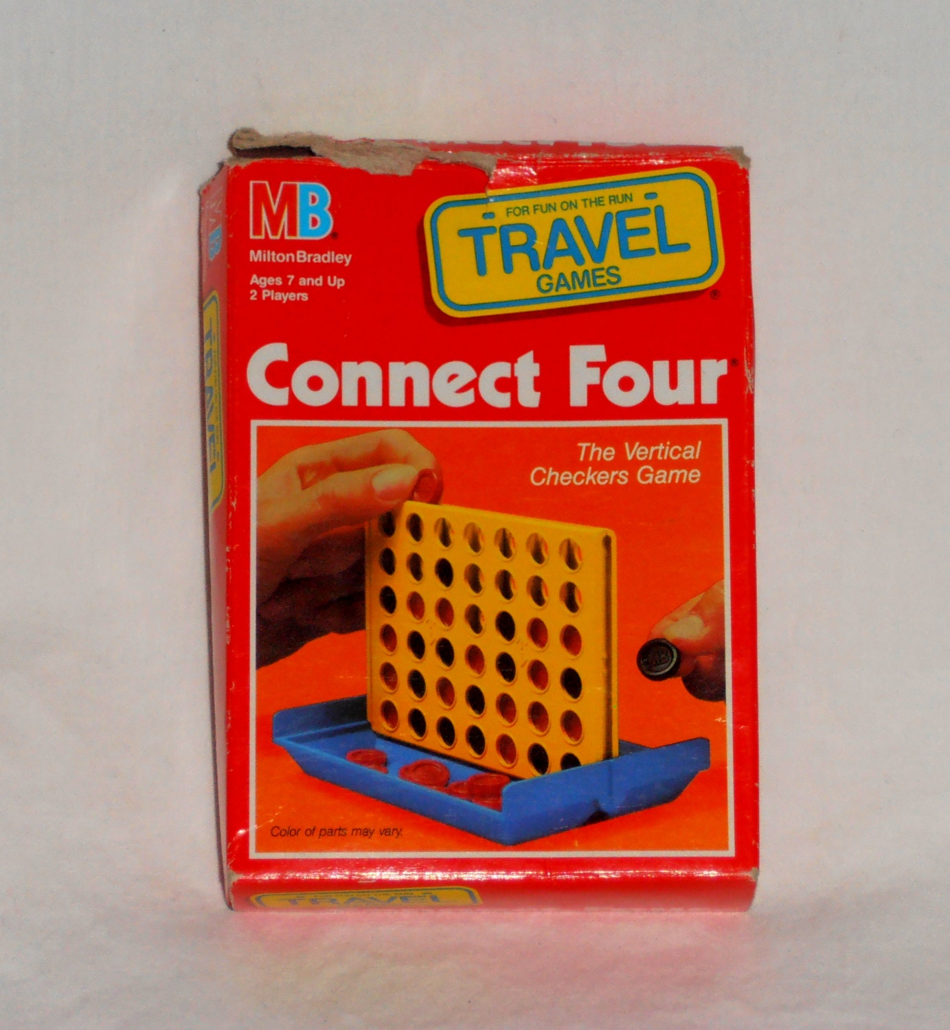 connect four travel game 1989 by milton bradley the vertical