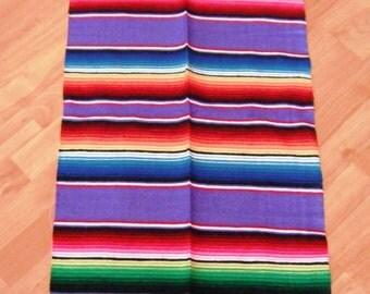 Great Mexican Blanket Sarape Sarepe Manta Cobija Several Colors Available 150 cms x 60 cms