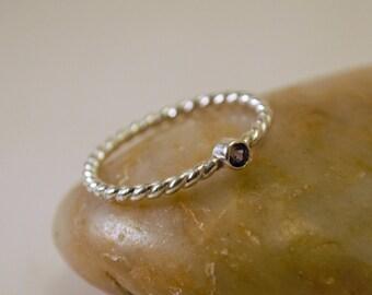 Alexandrite Rope Detail Ring