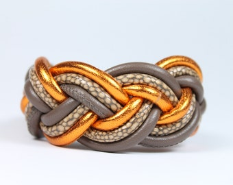 Leather Bracelet with magnetic closure