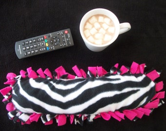 Zebra Print and Hot Pink Heat Therapy Rice Bag, Rice Pack, Hot Pack, Cold Pack, Heating Pad, Microwave Heating Pad, Gifts for Her