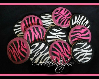 Zebra Sugar Cookies