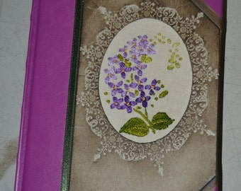 Handmade notebook with embroidery