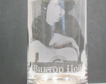 Viktor Tsoi  photo glass