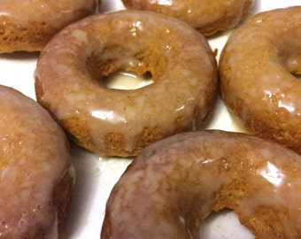 DOZEN Low Carb Donuts, Apple Cinnamon, Banana, Pumpkin Spice, Maple Glaze, Gluten Free, Low Calorie, Protein, Refined Sugar Free