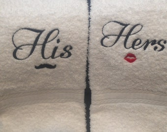 His and Hers Hand towel set