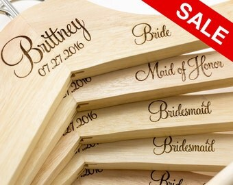 Personalized Wedding Dress Hangers - Bridal Party Hangers - Bridal Hanger - Wedding Hanger - Bridesmaid Gift - Custom Engraved Hanger