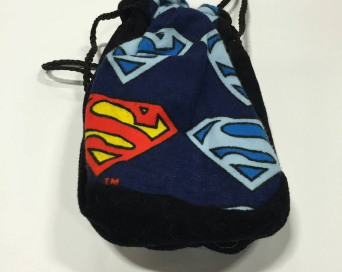 Superman satin lined pouch