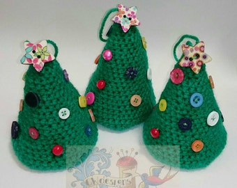 Crocheted Button Tree