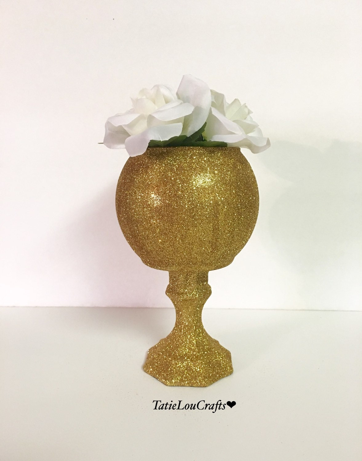 Tall glitter vase wedding centerpiece home by