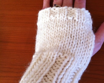 White Fingerless Gloves (pair)