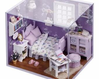 DIY Dollhouse Miniature with Light Sweet Sunshine Kit