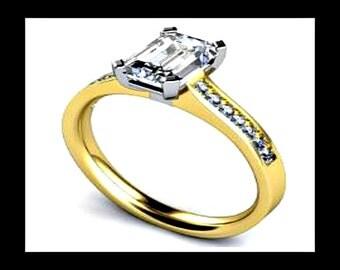 Platinum Engagement Ring Platinum Ring Platinum Wedding Ring Simple Engagement Ring Platinum diamond ring Gold engagement ring yellow gold