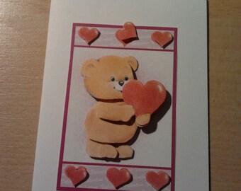 3D map Valentine bear