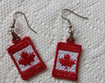 Flag earrings