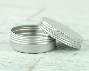 25 Round Metal Screw Top Tin | DIY Salve Balm Container | SET of 25 - 2oz/59ml